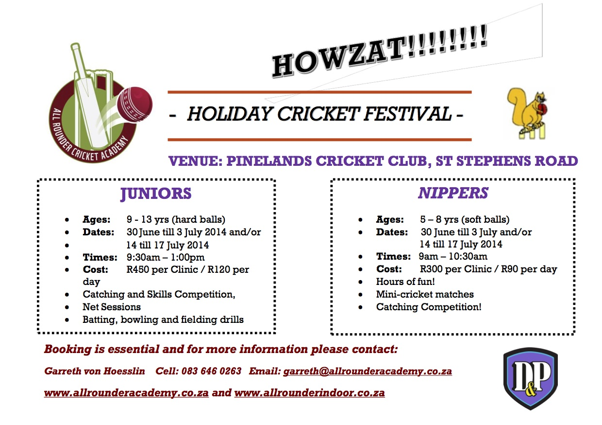 Holiday Cricket Festival & Coaching Clinic